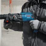 Bosch GBH 2-28 DV Rotary Hammer action
